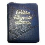 Livro Bíblia Sagrada Antigo e Novo Testamento Edição Especial de Bolso com Ziper -Azul Marinho - Sociedade bíblica do brasil