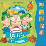 Livro Brinquedo Ilustrado os 3 Porquinhos Sonoro 12PAG. - Ciranda