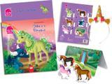 Livro Brinquedo Ilustrado Unicornios e o Dragao C/TIARA KIT Vale das Letras