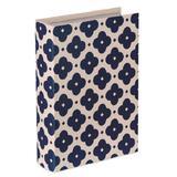 Livro Caixa Decorativo Azul e Bege - Grande - Mart