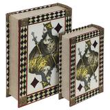 Livro Caixa Decorativo Book Box 2 Peças Rei Baralho - Fullway