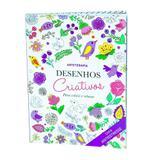 Livro Desenhos Criativos Para Colorir e Relaxar - Abril