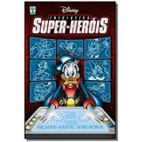 Livro Disney Iniciativa Super-herois Capa Dura 480 Páginas  + Livro Disney Mickey Mystery Detetive Das Trevas Capa Dura 388 Páginas - Combo