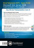Livro - Kit de Treinamento MCTS (Exame 70-432) - Microsoft SQL Server 2008: Implementação e Manutenção