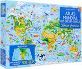 Livro - Nosso planeta: atlas mundial com quebra-cabeça