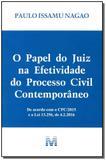 Livro - O papel do juiz na efetividade do processo civil contemporâneo - 1 ed./2016