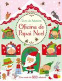 Livro - Oficina do papai noel : Livro de adesivos