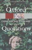 Livro - Oxford Concise Dictionary Of Quotations - Oup - oxford university