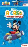 Livro para Ler e Colorir A Casa do Mickey Mouse Disney com Giz de Cera Culturama - Festabox