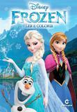 Livro para Ler e Colorir Frozen Disney Médio Culturama - Festabox