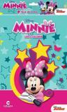 Livro para Ler e Colorir Minnie Disney com Giz de Cera Culturama - Festabox