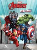 Livro para Ler e Colorir Os Vingadores Marvel Médio Culturama - Festabox