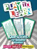 Livro - Play To Learn - Jogo De Cartas - Questions For Advanced Students - Ptl - play to learn