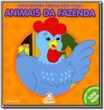 Livro quebra-cabeca com rimas - animais da fazenda - Blu editora