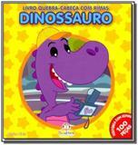 Livro quebra cabeca com rimas dinossauro - Blu editora