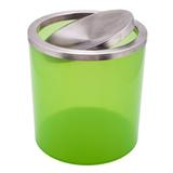 Lixeira Basculante Verde Limão Translúcido - Pontto lavabo