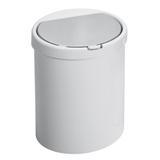 Lixeira de plástico Click Maxroll branca 7,5L - 23039