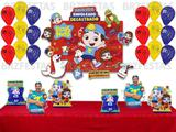 LUCCAS NETO * Kit Decoração de Festa com Painel + 25 Balões + 06 display de Mesa - Regina festas