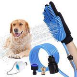 Luva De Massagem Pulverizador Banho De Animais De Estimação Cão Gato - Rpc