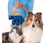 Luva Escova Nano Magnética Tira Pelos Dos Pets Cães e Gatos Removedor De Pelos SoftPet Azul - Fly ace