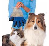 Luva Escova Nano Magnética Tira Pelos Dos Pets Cães e Gatos Removedor De Pelos SoftPet Rosa - Fly ace