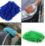 Luva Para Lavar Carro Limpeza Doméstica Microfibra Cores Sortidas - Wincy