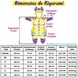 Macacão Kigurumi Pijama Cosplay do Hipopótamo Cinza em Plush - Fantasia de unicórnio