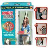 Magic Mesh Cortina Mosquiteiro Tela Protetora para Insetos Mosquitos e Moscas - Dc importação