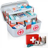 Maleta Caixa Primeiros Socorros e Medicamentos com 2 Bandejas e Divisorias  Arqplast