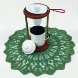Mancebo Coador de Café em Madeira Com Bule Esmaltado Branco - Metallouça
