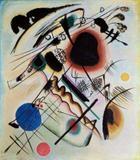 Mancha Negra (1921) - Wassily Kandinsky - Tela 60x68 Para Quadro - Santhatela