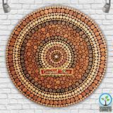 Mandala Artesanal Espiral com Centro Preenchido - Artesaos nacionais