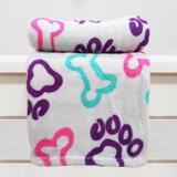 Manta Cobertor em Microfibra Para Cachorro Cinza - Meu Pet