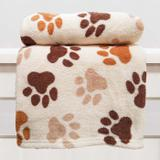 Manta Cobertor em Microfibra Para Cachorro Creme - Meu Pet