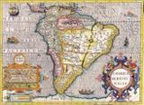 Mapa América do Sul Antigo 1630 - Tela 50x68 Para Quadro - Santhatela