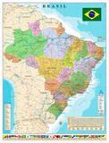 Mapa brasil pol. rod. dobrado - Geomapas editora de mapas e guias ltda