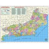 Mapa Do Estado do Rio de Janeiro 120x90 cm Dobrado - Multimapas