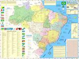 Mapa Geo Político Rodoviário e Estatístico Do Brasil Edição Atualizada - Multimapas
