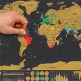 Mapa Mundi De Raspar Viagens / Lugares Que Visitou - Ed Luxo - Shopping vila sônia
