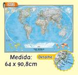 Mapa Mundi em Painel de Lona - Modelo 2 - Micro oficina