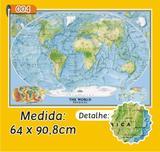Mapa Mundi em Painel de Lona - Modelo 4 - Micro oficina