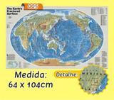 Mapa Mundi em Painel de Lona - Modelo 5 - Micro oficina