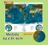 Mapa Mundi em Painel de Lona - Modelo 8 - Micro oficina