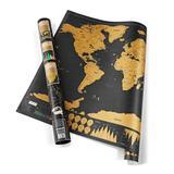 Mapa Mundi Raspadinha Deluxe Preto - 82 x 59 cm Grande - Scratch map