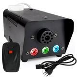 Máquina de Fumaça 600w Turbo Luz de Led RGB Controle Remoto - Luatek