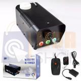 Máquina De Fumaça Led 600w Controle Remeto Sem Fio 110v Luatek Lk-y5
