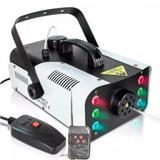 Máquina Fumaça 1200w Iluminação Efeito Festa 6 Leds RGB 110V - Luatek