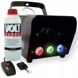 Máquina Fumaça 600W Iluminação Led RGB Controle + Líquido - Atco