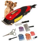 Máquina Tosa Aparadora Pelos Kit Profissional Gato Cães 110V - Qirui