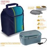 Marmita Elétrica 1,2 L Bivolt com Cooler Lunch 4,2 L SOPRANO